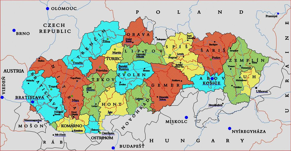 Slovakia Genealogy Research Strategies - Map of austria hungary 1900 1907